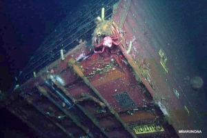 MBARI researchers are monitoring the impacts of debris like shipping containers on deep sea life. (Photo courtesy MBARI)