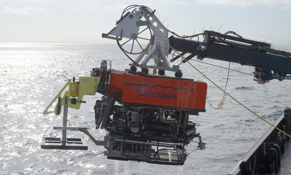 Our colleagues at the Monterey Bay Aquarium Research Institute are using ROVs and other tools to measure undersea avalanches in the Monterey submarine  canyon. Photo © 2015 MBARI/Krystle Anderson