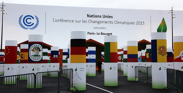 The entrance to the COP21 conference. Flickr Creative Commons/Takver