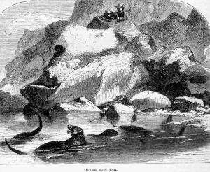 Sea otter hunters in Coos Bay, Oregon, 1856. Courtesy Oregon History Project