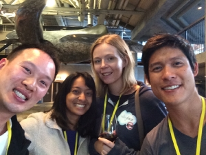 A team from UC-Berkeley hosted at the Aquarium won top prize in the first Fishackathon in 2014. Photo by Isha Dandavate
