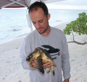 His work includes studies using bomb radiocarbon from Pacific nuclear tests to help in sea turtle conservation.