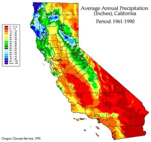 California rainfall map