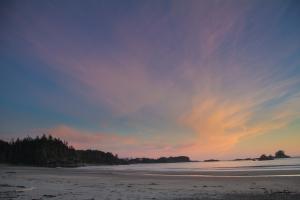 Sunset_West beach_Calvert Island_british columbia