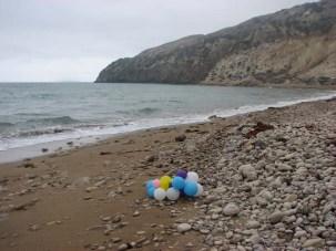 Balloons marine debris Santa Cruz Island