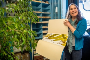 Researcher Sue Lisin collected many of the specimens that are part of the herbarium. Photo Monterey Bay Aquarium/Tyson Rininger