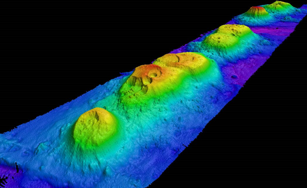 Large scale scan of seamounts